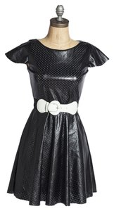 Un Deux Trois Faux Leather Party Pleather Dress