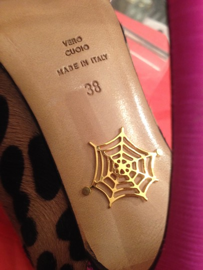 Charlotte Olympia Leopard with Pink Ribbon Pumps