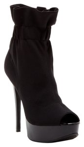 Chinese Laundry Open Toe Black Boots
