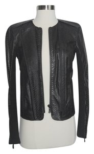J Brand Leather BLACK Leather Jacket