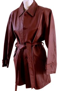 Bagatelle Dark Wine Burgandy Leather Jacket