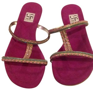 Barneys Co-Op Stones. Pink and turqoise Sandals