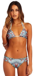 CA by Vitamin A Analeigh Triangle Bikini Top & Ruffle Bikini Bottom