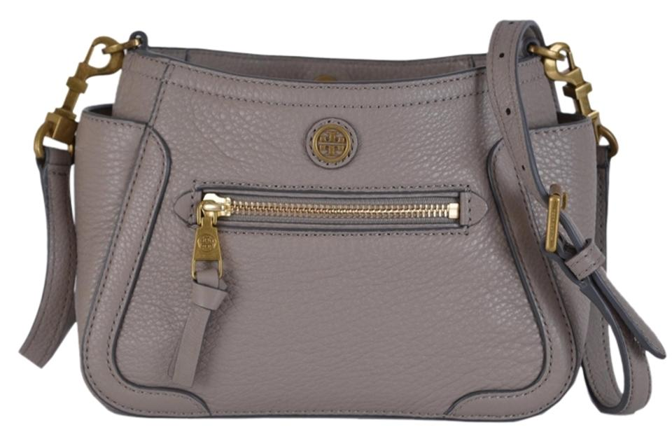 38132962590c Tory Burch Satchel Handbag Purse Satchel Handbag Purse Gray Messenger Bag  Image 0 ...