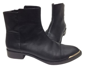 Rachel Roy Ankle Metal Tip Leather Casual Black Boots