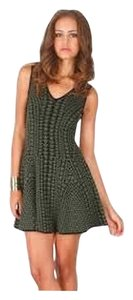 Torn by Ronny Kobo short dress Green & Black on Tradesy