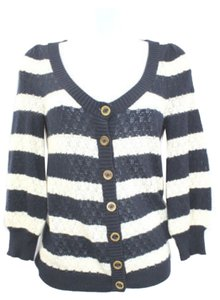 Juicy Couture Black White Knit Top