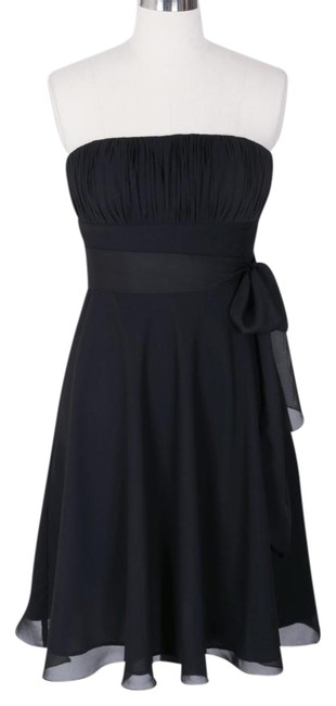 Preload https://img-static.tradesy.com/item/707396/black-chiffon-pleated-bust-w-sash-knee-length-cocktail-dress-size-10-m-0-0-650-650.jpg