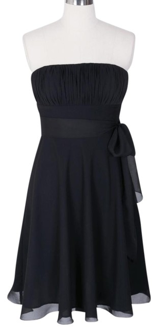Preload https://item5.tradesy.com/images/black-strapless-chiffon-pleated-bust-w-sash-knee-length-night-out-dress-size-6-s-707404-0-0.jpg?width=400&height=650