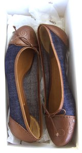 Chloé Chloe Chloe Denim & Brown Flats