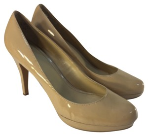 Joan & David Patent Nude Pumps