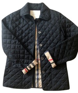 Burberry Youth Quilted Pirmont Black Jacket