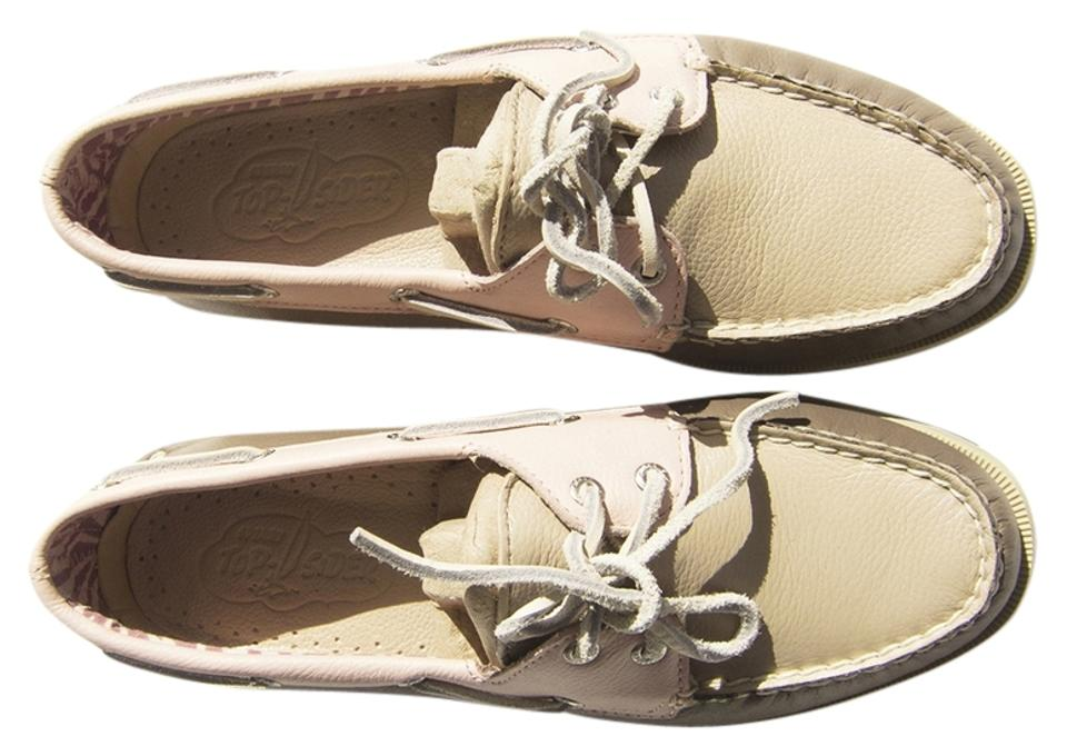 Sperry Topsider Nude / Greige / Blush Topsider Sperry Boat Tri-color Loafers Sneakers 37f456