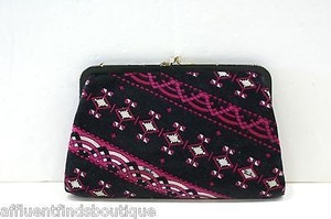 Emilio Pucci Vintage Pucci Patterned Velvet Cosmetic Case Multi-Color Clutch