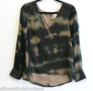 Rory Beca Tie Dye Top Olive