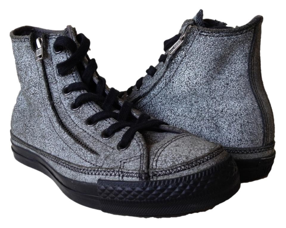 67051d0a3758 Converse Grey Black Hi Chuck Taylor All Stars Double-zipper Sneakers. Size   US 7.5 Regular ...