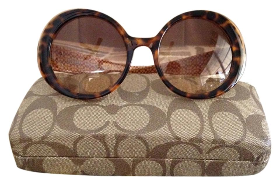 a78860a09d7c9 Coach Brown Round Sunglasses - Tradesy