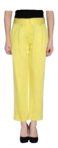 MILLY Trouser Pants Lemon