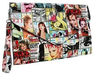 Other Over The Magazine Magazine Cover Envelope Multicolor Clutch