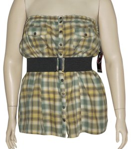 Fang Top Green Plaid
