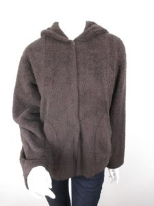 CAbi Fuzzy Furry Fleece Brown Jacket