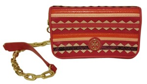 Tory Burch Multicolor Leather Embroidered Robinson Fushsia Shoulder Bag