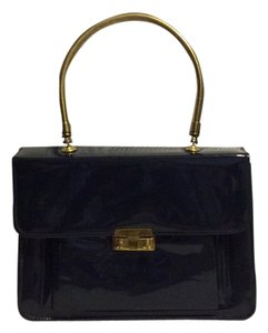Satchel in Navy blue