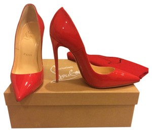 Christian Louboutin Red Simple Bianca Rubis Pumps
