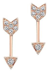 MRE Jewelry 14k Diamond Arrow Stud Earrings