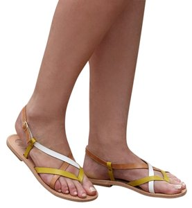 Meraki Company Yellow, White, Tan Sandals