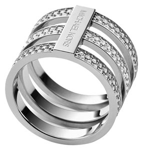 Michael Kors 10% off until Oct 15-SET-Tri-Stack Ring & Silver Tone Hoops
