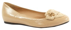 Tory Burch Leila Quilted Metallic Loafer Loafer Leila Loafer Leaila Quilted Loafer Loafer Moccassin Beige Flats