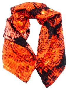 Givenchy Givenchy Red Orange Floral Print Silk Square Scarf New