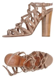 Lanvin Silk Strappy champagne Sandals