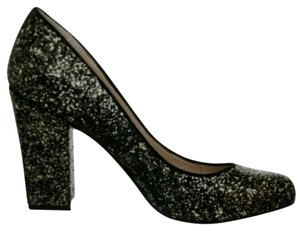 Vince Camuto Chunky High Heel And Sparkly New In Box Black/bronze/glitter Classy & Fun Bronze/Black Glitter/Kidsue Pumps