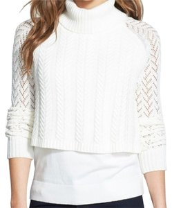 Vince Camuto Knit Cable Knit Open Knit Tiered Cable Sweater
