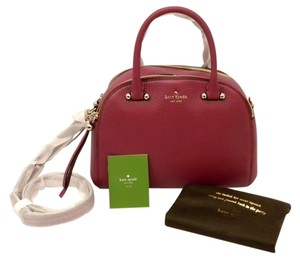 Kate Spade Pxru 4943 Satchel in Raspberry Red (dark Cildro pink)