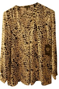 Vince Camuto Top Sunrise/Camel/Animal print