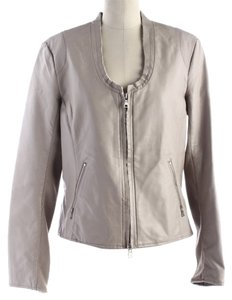 Ellen Tracy #fauxleather Beige Leather Jacket