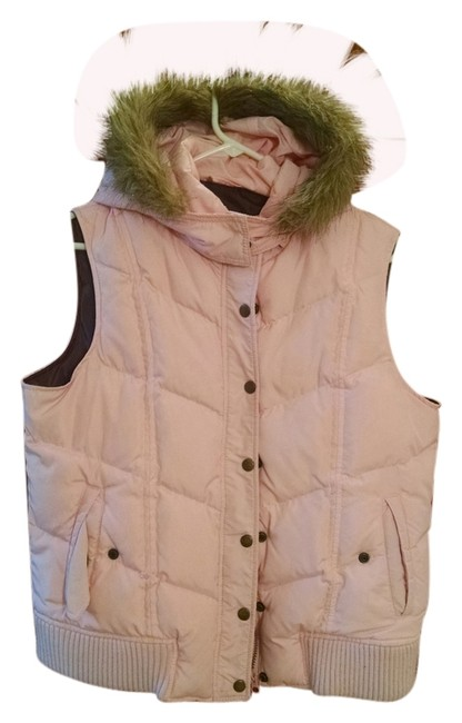 Item - Pink Warm Down Hooded Free Shipping Vest Size 18 (XL, Plus 0x)