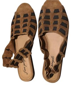 Free People Brown and Black Sandals