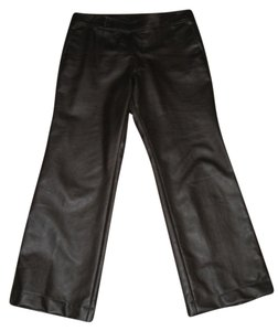 Comme des Garons Boot Cut Pleather Boot Cut Pants Brown