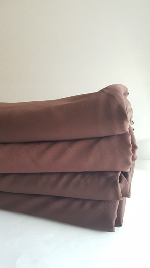 "4 Chocolate Brown 120"" Round Linens"