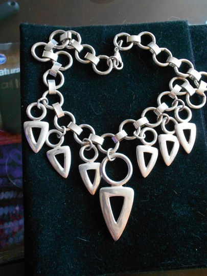 Other Silver Chunky Metric Loop Chain Necklace
