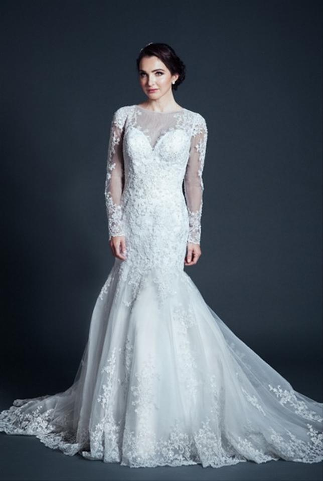 Kari chang eternal kcw1573 lace long sleeve wedding dress for Long sleeve lace wedding dresses for sale