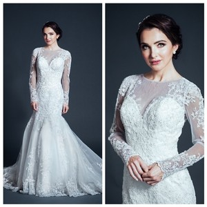 Kari Chang Eternal Kari Chang Eternal Kcw1573 Lace Long Sleeve Wedding Dress