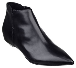 Sigerson Morrison Leather Flat Pointed Toe Luxury Black Boots