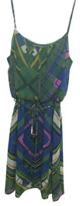 Collective Concepts short dress Blue, Green and Purple on Tradesy