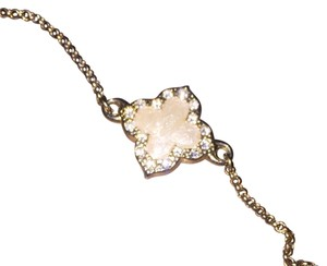 Gold Tone Clover Necklace