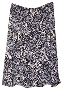 BCBGMAXAZRIA Stretch Pull On Print Leaf Print Skirt Multi-Color